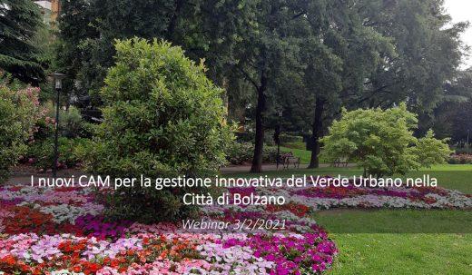 3°Webinar VERDEVALE – Città di Bolzano
