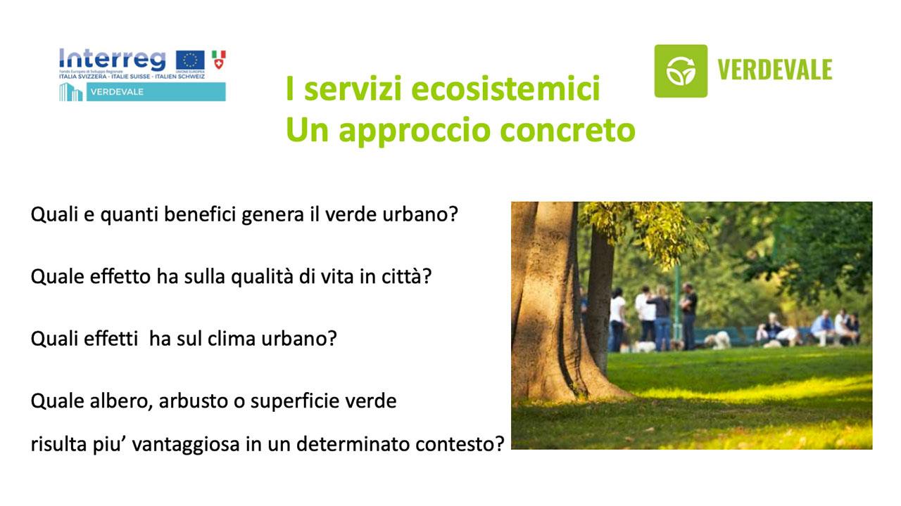 I servizi ecosistemici - Un approccio concreto