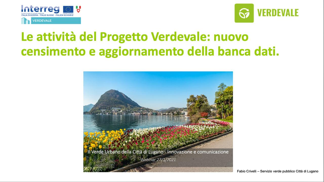 Le attività del Progetto Verdevale: nuovo censimento e aggiornamento della banca dati